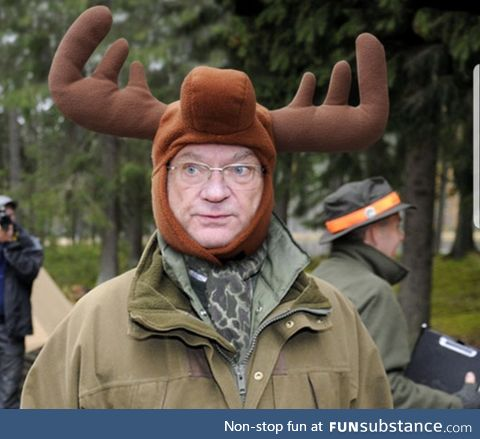 This is the king of Sweden. There are countless of pictures with him wearing silly hats