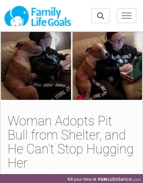 Women adopts dog from shelter who was likely to be put down