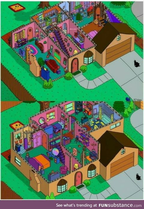 The simpsons house, isometric perspective