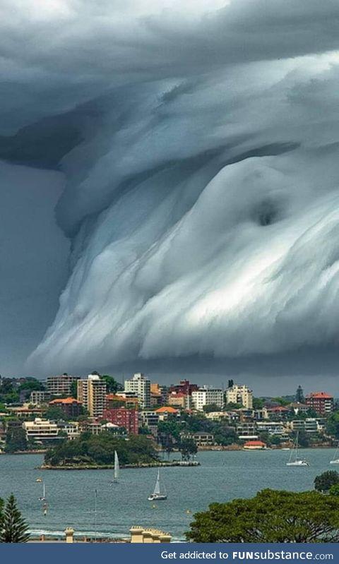 Tsunami cloud, sydney, australia