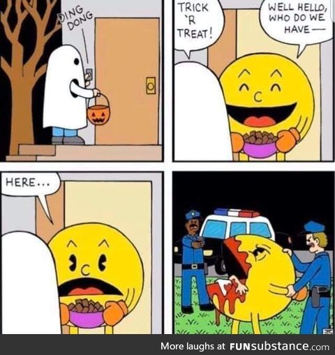 Despite trying to live a normal suburban life, Pac-Man could not put his traumatic past