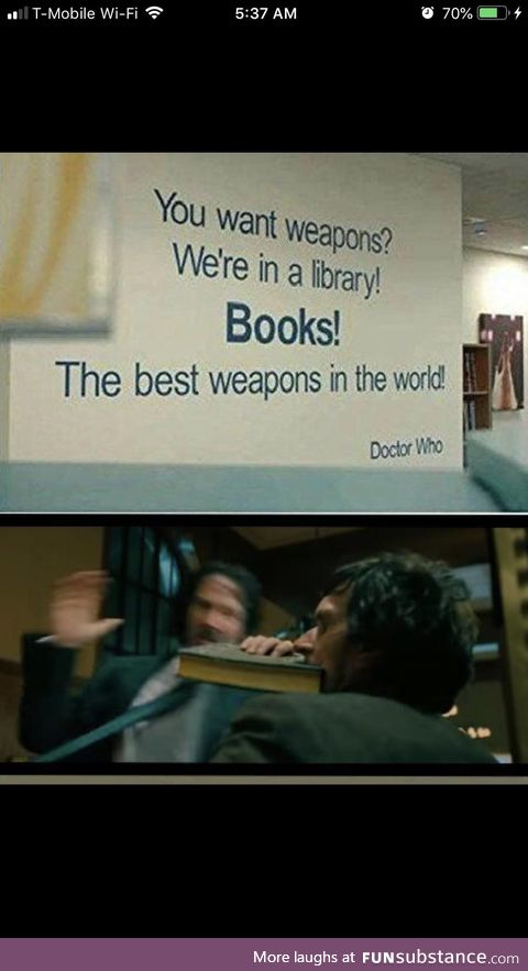 """""""Everything is a weapon"""" - Keanu Reeves"""