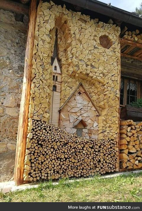 The Austrians know how to stack wood