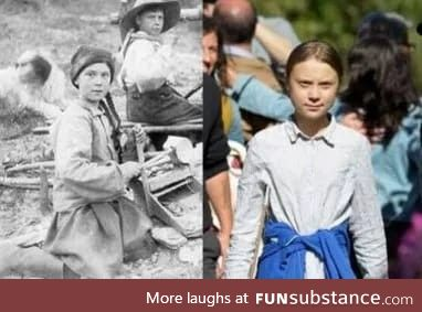 Great Thunberg circa 1899 before she time traveled to the future