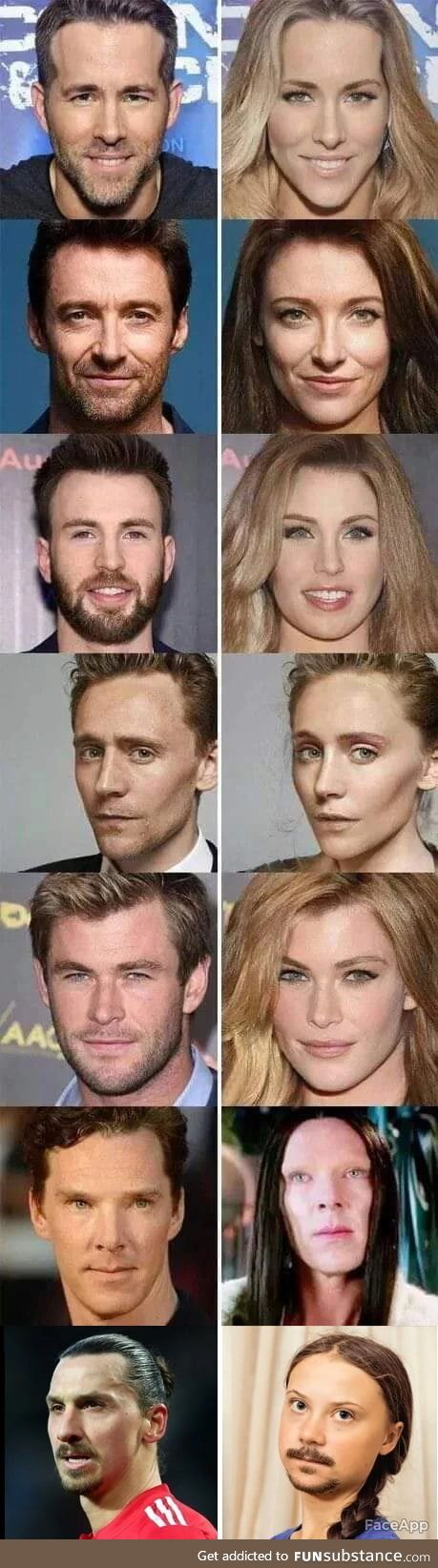 If these famous guys were women