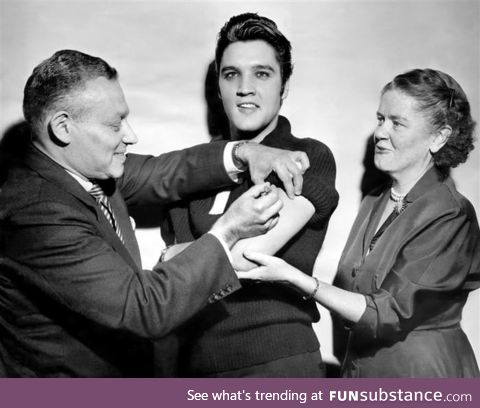 When Elvis Presley received his polio vaccine in 1956, immunization levels raised from