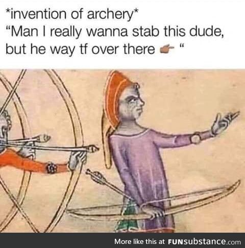 Invention of archery