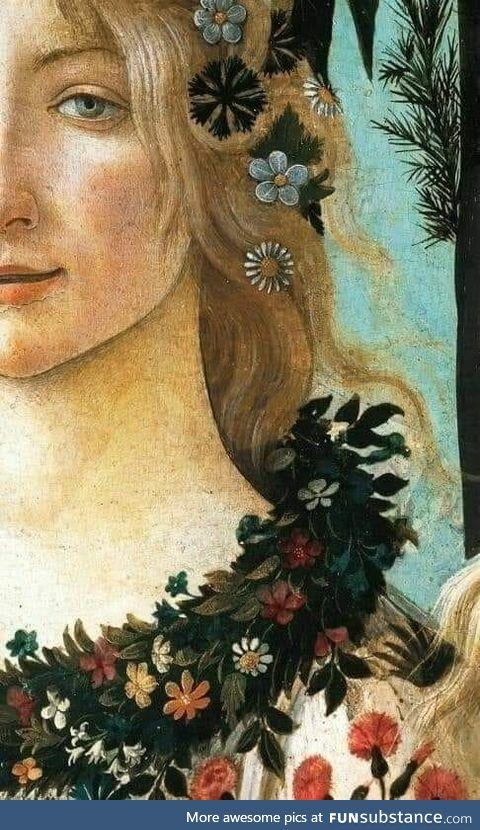 """Sandro Botticelli, """"Primavera"""" (dettaglio), tra il 1478 e il 1472. Uffizi, Firenze."""