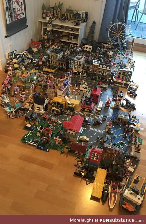 This LEGO town