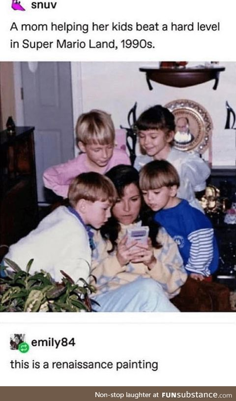 Wholesome mom in 1990s