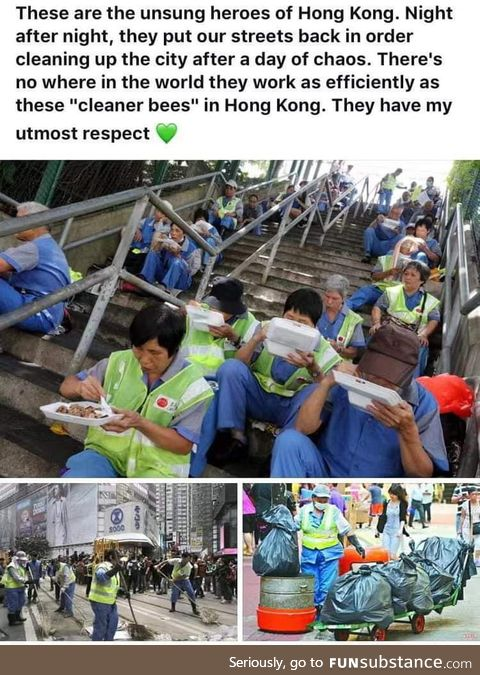 The true heroes of Hong Kong