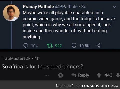 Speedrunning africa
