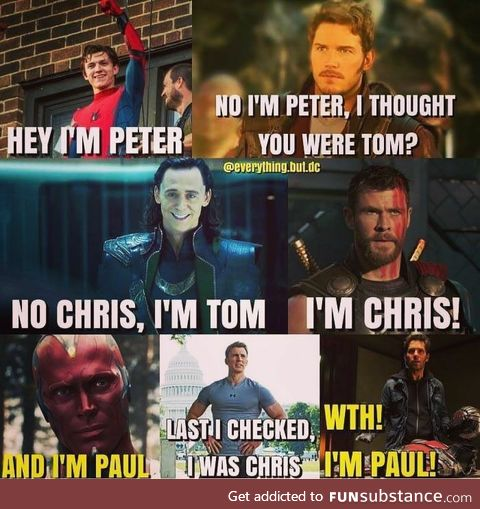 Every Tom, Chris, and Peter is named Paul