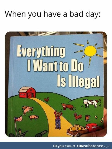 Everything I Want To Do is illegal (or physically improbable)