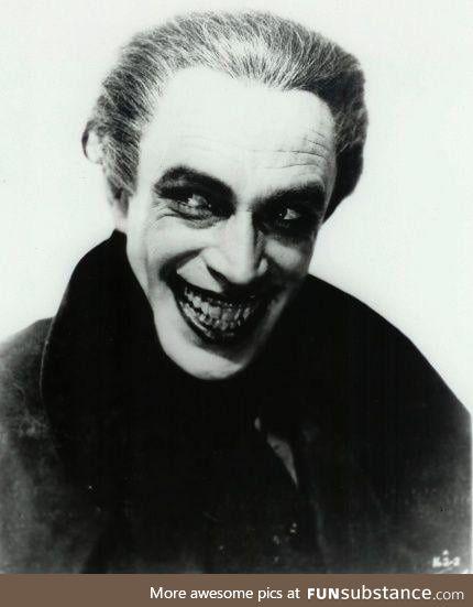 Conrad Veidt, the original inspiration for the Joker, from the 1928 film The Man Who