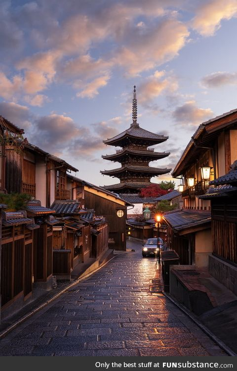 First light on the streets of Kyoto. (Learning photography from YouTube and would