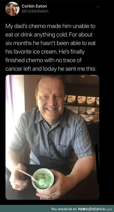 Way to go, Dad!