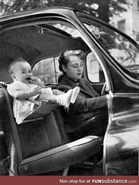 1940's baby launching car attachment