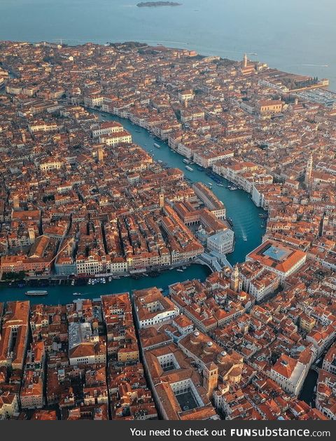 View of Venice city from above