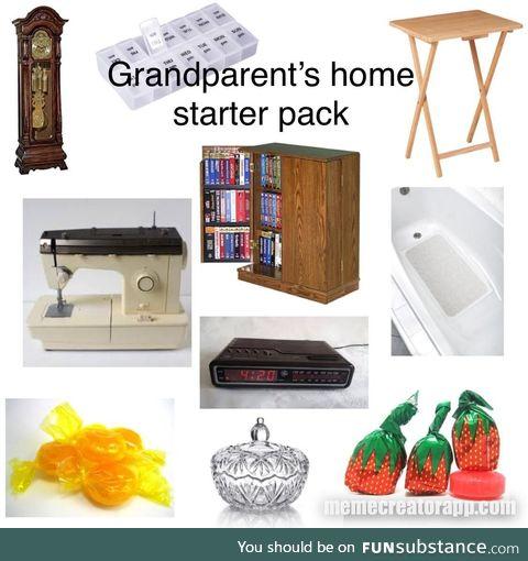 Grandparent's home starter pack