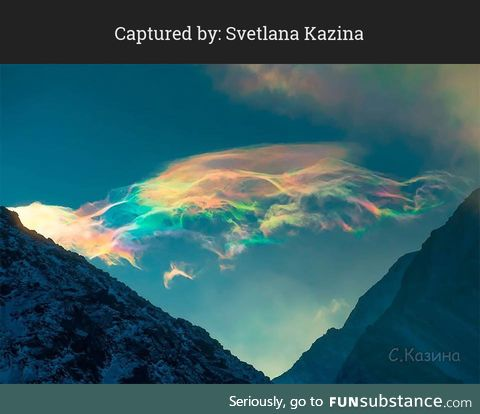 Rare Ethereal Heavenly Clouds In Syberia