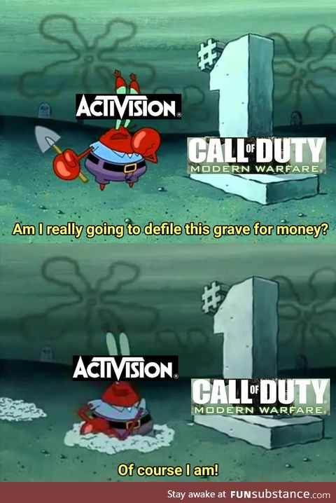 At this point, announcing a new Call of Duty game is borderline necrophilia for Activision