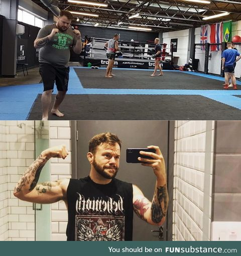 These two photos were taken exactly 2 years apart, day 1 of Jiujitsu to day 730