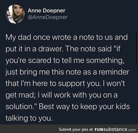 Wish my parents did this
