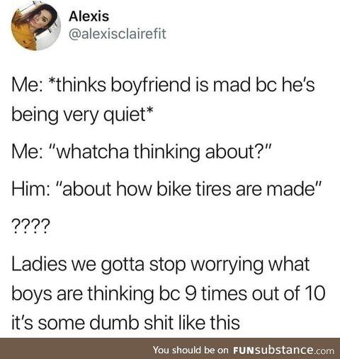 Bruh your boyfriend kinda stupid tho