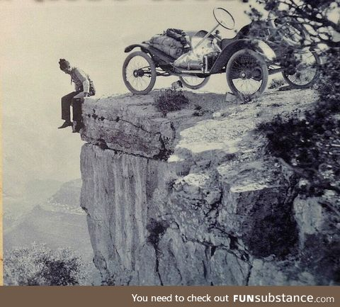 Grand Canyon drive-in, circa 1912