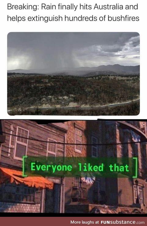 Ah rain yes