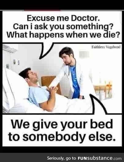 A comforting bedside manner