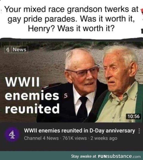 Hans, were we actually the baddies???