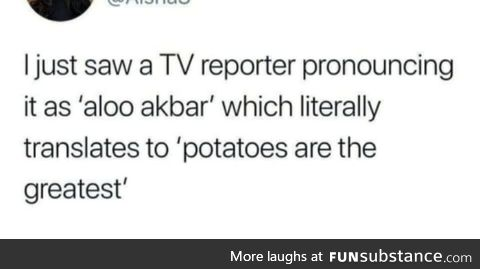 Salute to the reporter