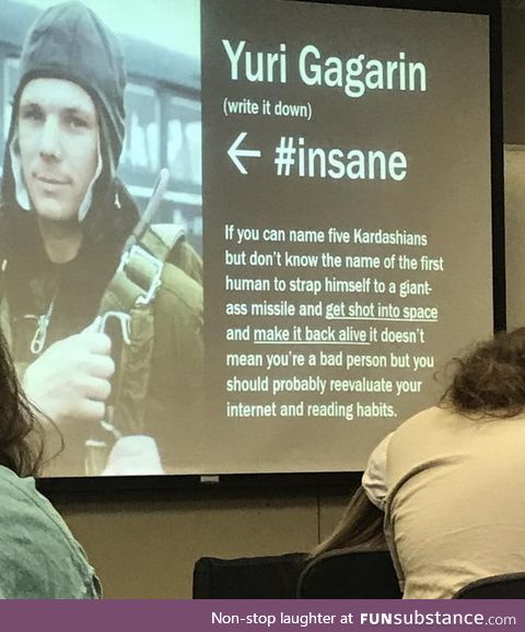 History teacher laying down the facts!