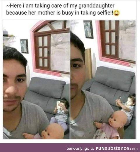 Careless mom :P