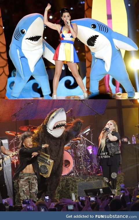 Sweet Left Shark... What happened to you?