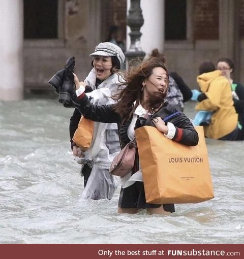 It seems easier to imagine the end of the world than the end of capitalism (Venice; Italy)