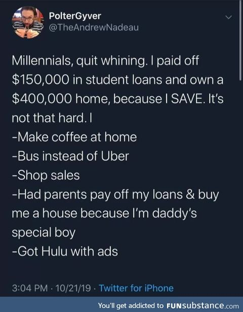 Just don't be poor. It's that simple!