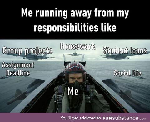 Responsibilities? Not today. Top Gun: Maverick hits theaters June 2020