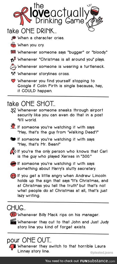 Love Actually (the drinking game)