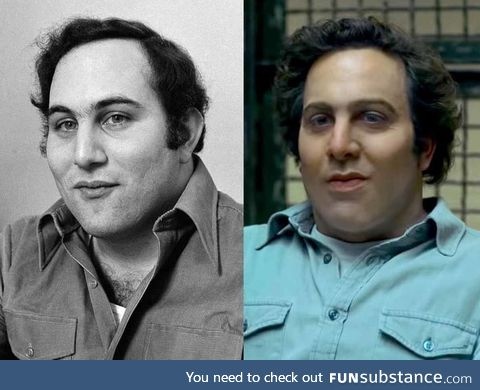 David Berkowitz and the actor playing him in the TV show, Mindhunter
