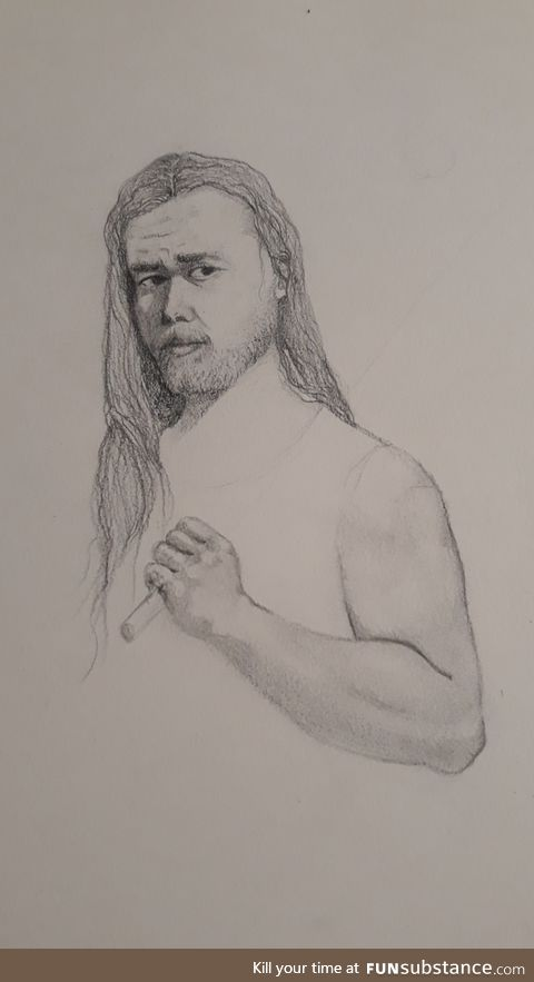 Drawing my bf as a warrior to say sorry because I f*cked up big time.. how're y'all doing?