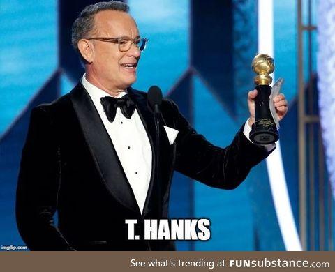 He won a Golden Globe and he said