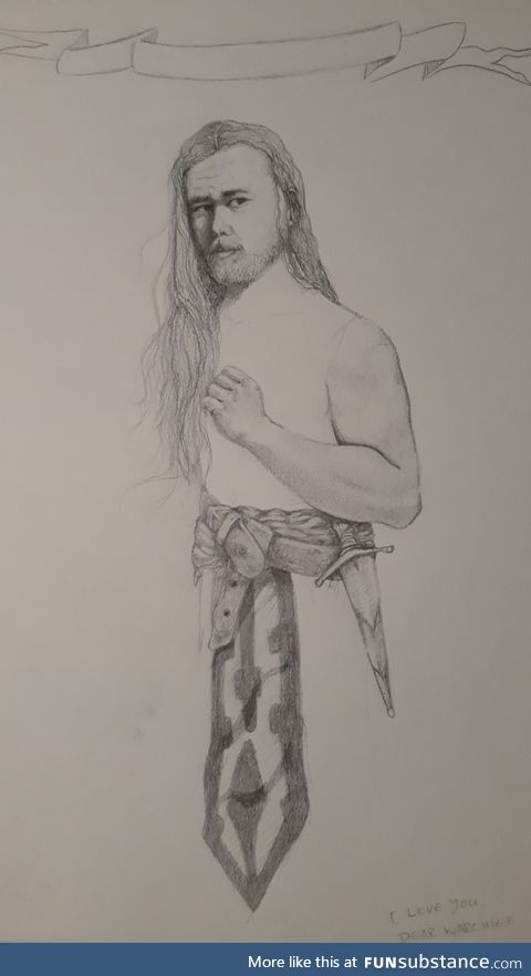 Saying sorry by drawing my bf as a warrior cause I f*cked up, pt2