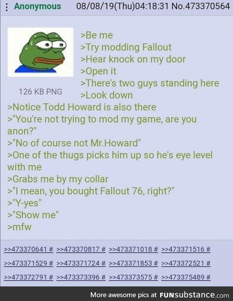 Hopefully not a Re. Todd Howard visits Anon
