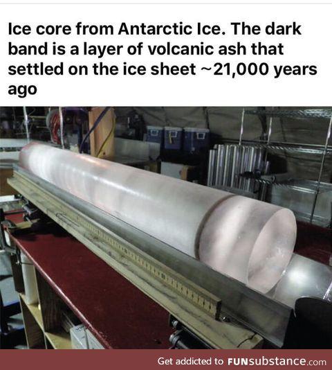 Ice core from Antarctic ice