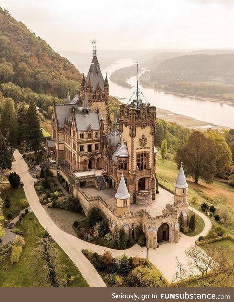 Germany is the land of castles, this is Drachenburg Castle