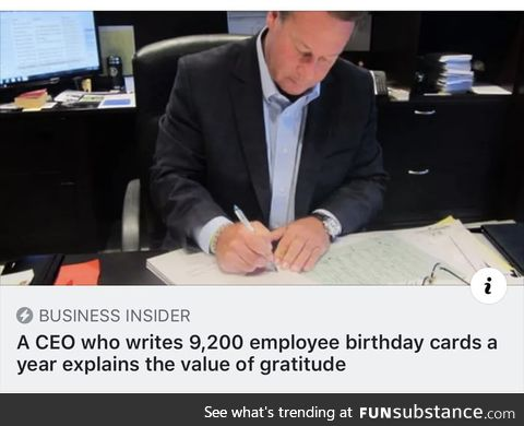 Apparently this guy writes 25 letters a day and is a full time CEO... Yeah right!