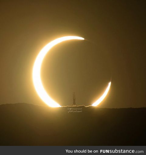 Planned for 5 months to take this solar eclipse photograph